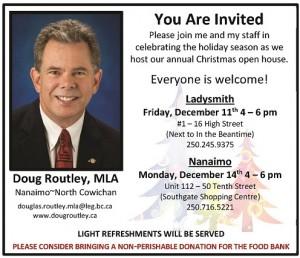 Doug Routley - Christmas Open House Invitation 2015-1